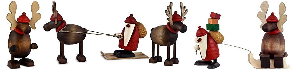 Elch Olaf und Rentier Rudolf