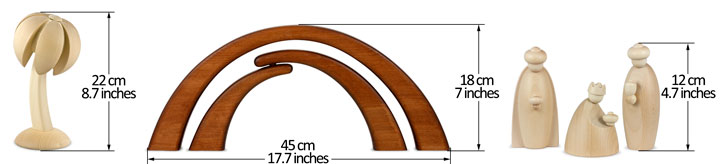 Krippenfiguren Lindenholz natur 12 cm
