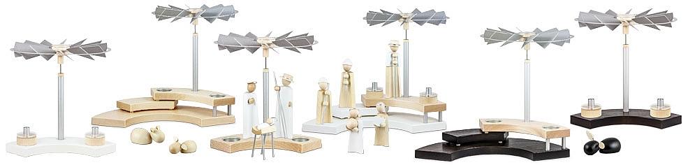 Näumanns Pyramiden und Kerzenhalter