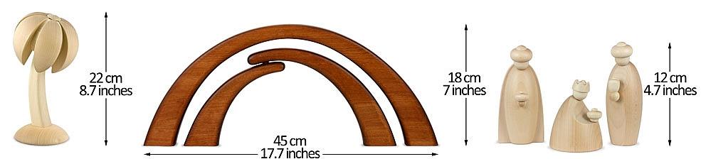 Krippe 12 cm natur