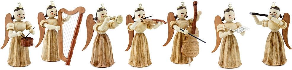 Engel Faltenlangrock natur