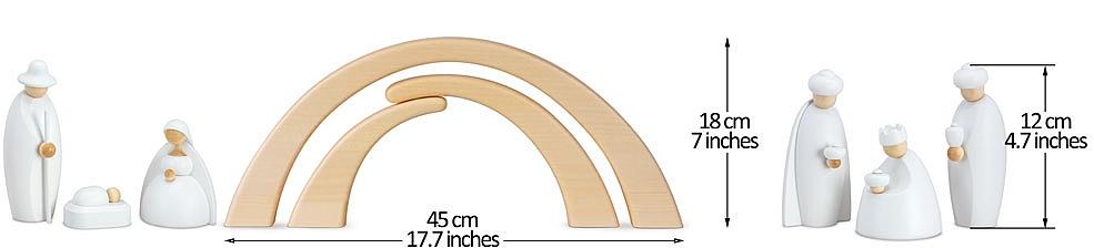 Krippe 12 cm weiß