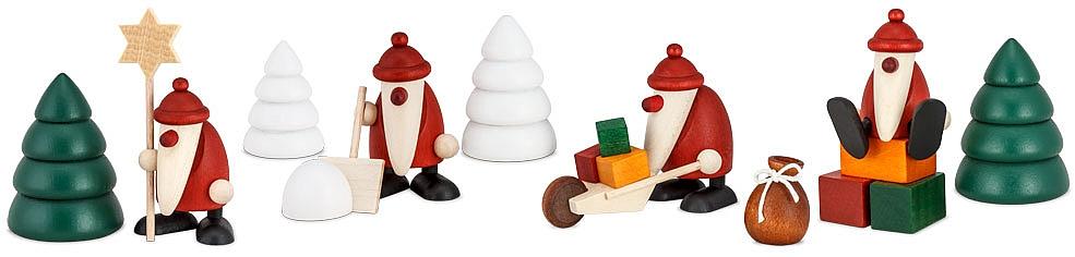 Miniatur Weihnachtsmänner