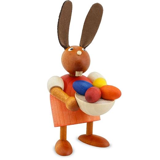 Hase rot mit Eiernest 7 cm
