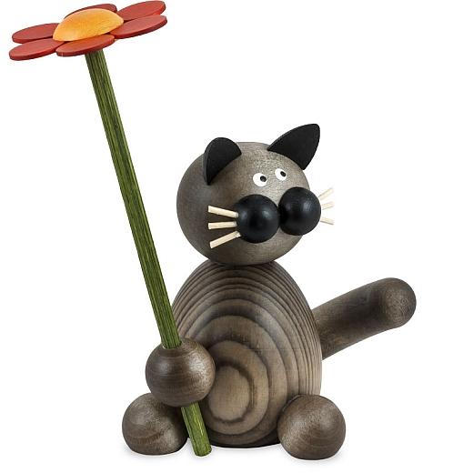 Katze Karl mit Blume
