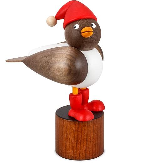 Weihnachtsmöwe mit grauen Flügeln
