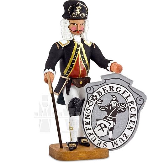 Bergmeister mit Seiffener Wappen