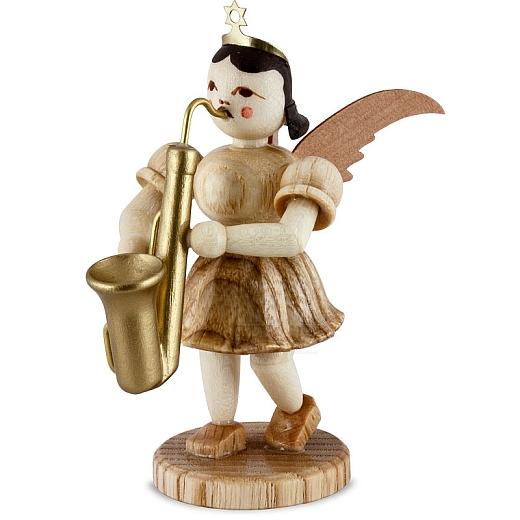 Kurzrockengel Naturholz Saxophon