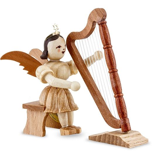 Kurzrockengel Naturholz Harfe sitzend