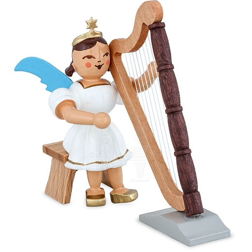 Kurzrockengel farbig Harfe sitzend