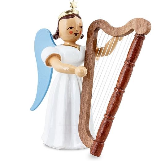 Langrockengel farbig Harfe