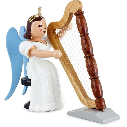 Langrockengel farbig Harfe sitzend