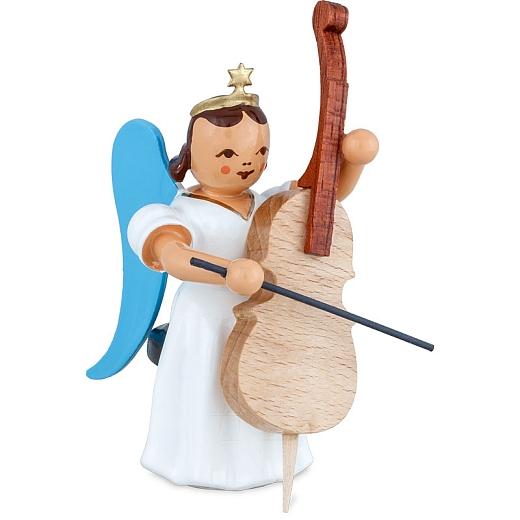 Langrockengel farbig Violoncello sitzend