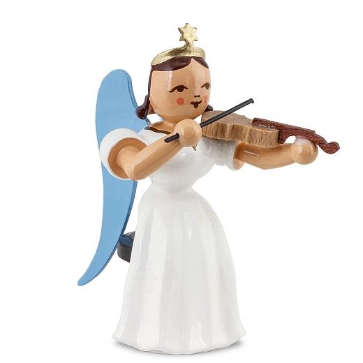 Langrockengel farbig Violine sitzend