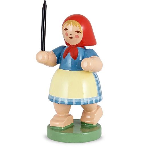 Mädchen mit Peitsche