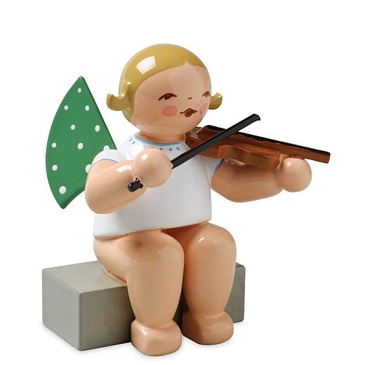 Engel mit Geige, sitzend von Wendt & Kühn