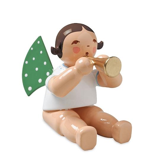 Engel mit Flöte, sitzend ohne Sockel von Wendt & Kühn