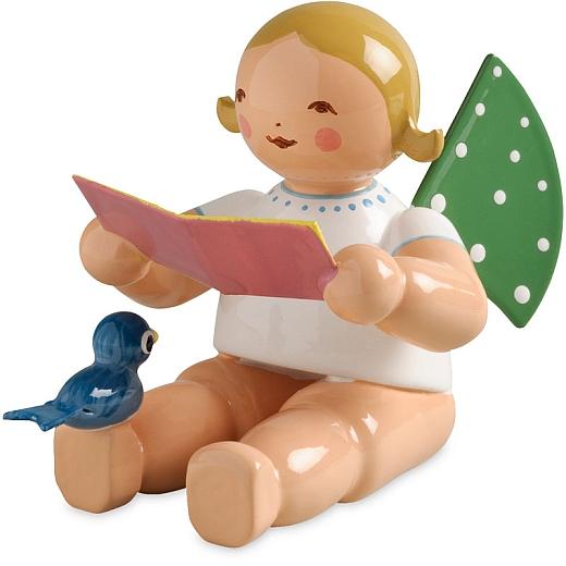 Engel mit Notenblatt und Vogel von Wendt & Kühn