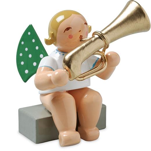 Engel mit Basstrompete, sitzend von Wendt & Kühn