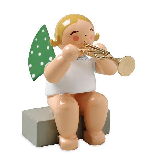 Engel mit Trompete, sitzend von Wendt & Kühn