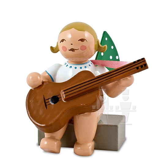 Engel mit Gitarre, sitzend von Wendt & Kühn