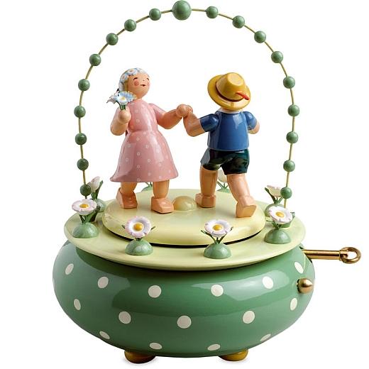Spieldose Zwei Tänzer im Bogen von Wendt & Kühn