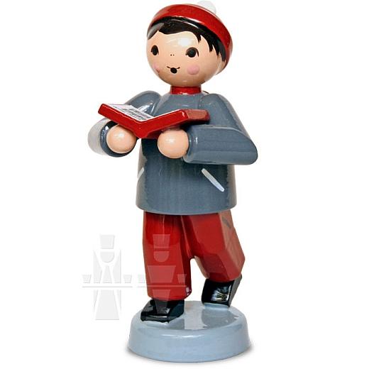 Junge mit Buch rot