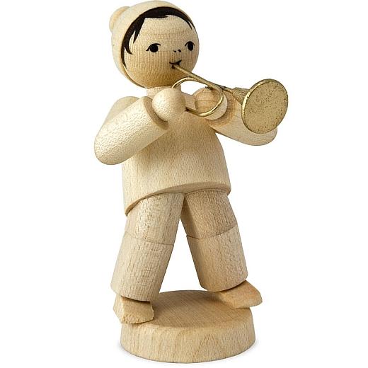 Wintermusiker mit Trompete natur von Ulmik
