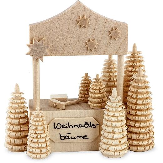 Weihnachtsbaumverkaufsstand • natur