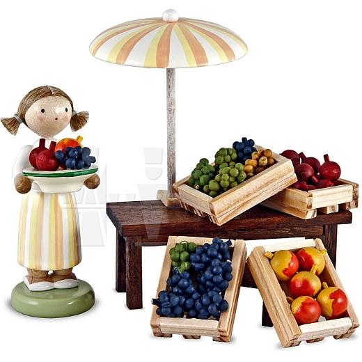 Marktsstand Obsthändlerin