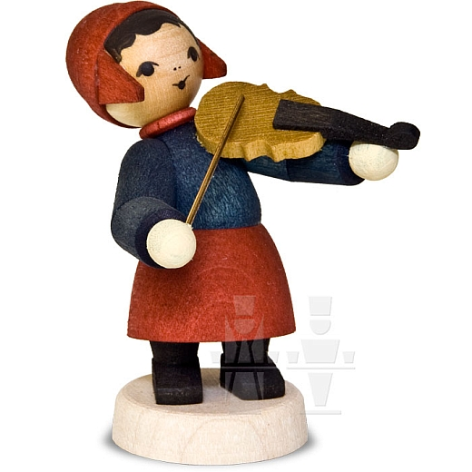 Wintermusikerin mit Geige • gebeizt