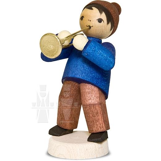 Wintermusiker mit Trompete • gebeizt