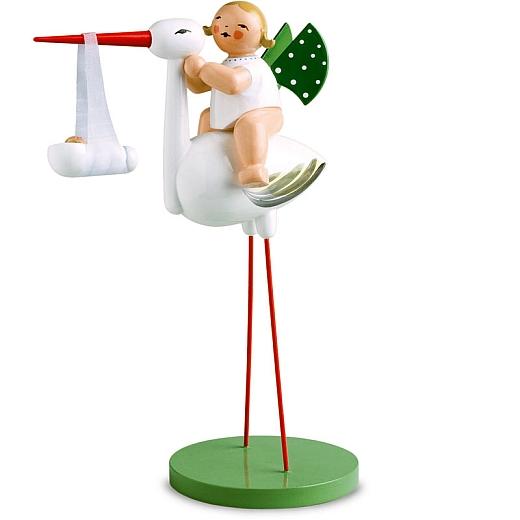 Storch mit Wickelkind Junge von Wendt & Kühn