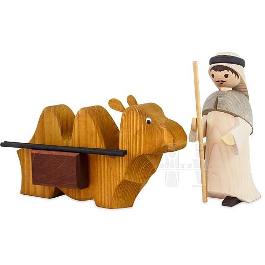 Treiber mit liegendem Kamel 22 cm gebeizt