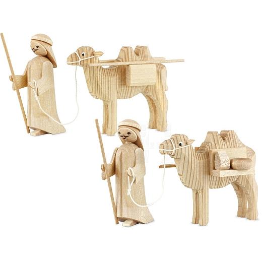 Treiber mit Kamelen 7 cm natur