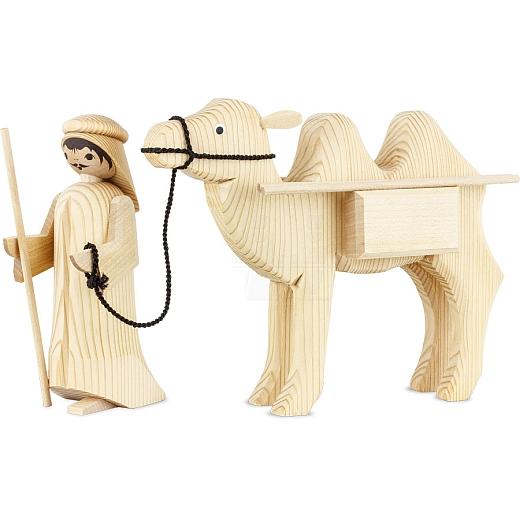 Treiber und Kamel mit Paketen 13 cm natur