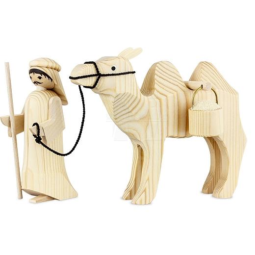 Treiber und Kamel mit Eimern 13 cm natur