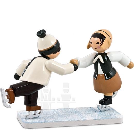 Eiskunstläuferpaar braun