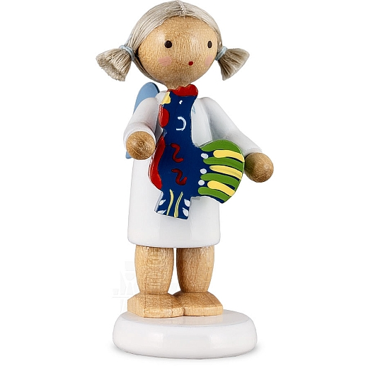 Engel mit polnischem Spielzeughahn