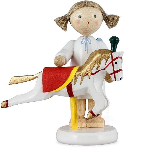 Engel mit böhmischem Reitschulpferd