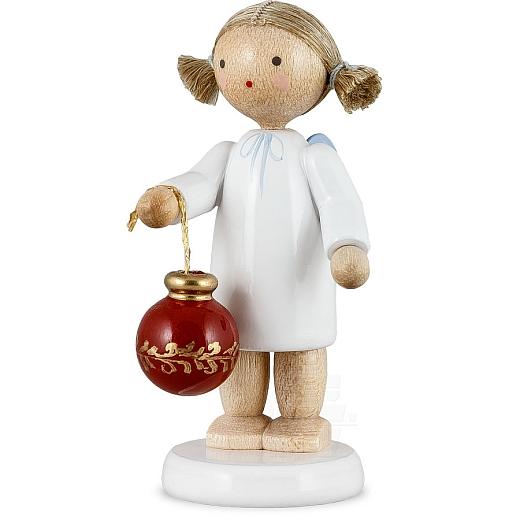 Engel mit Christbaumkugel