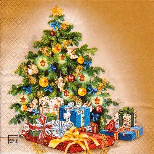 Serviette - Weihnachtsbaum