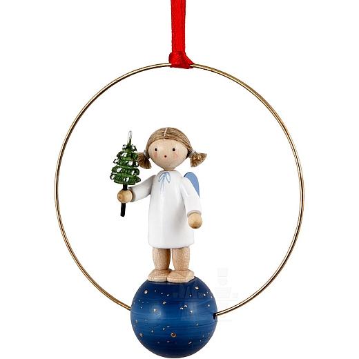 """Weihnachtsschmuck """"Engel mit Bäumchen"""""""