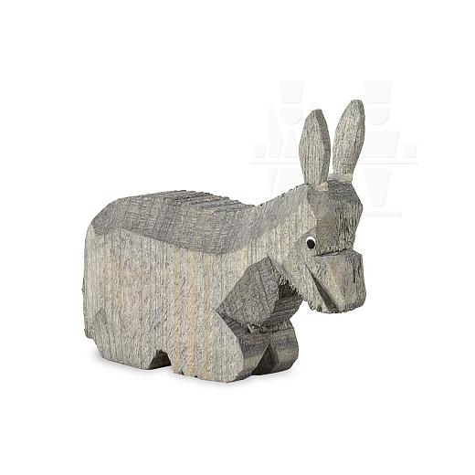 Esel liegend gebeizt für 7 cm Krippenfiguren