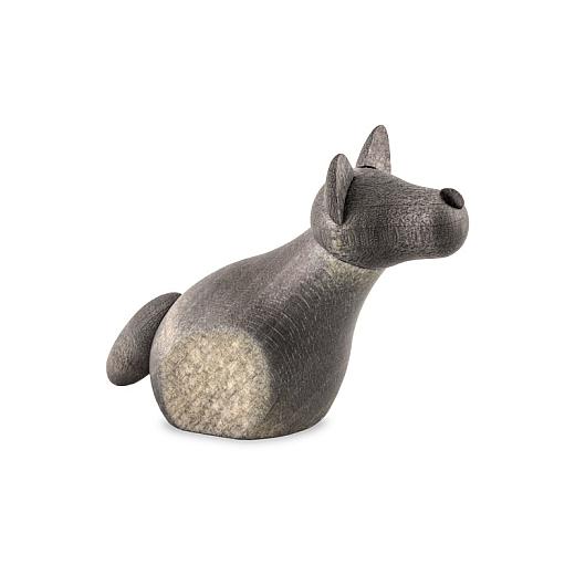 Hirtenhund sitzend grau für 12 cm Krippe