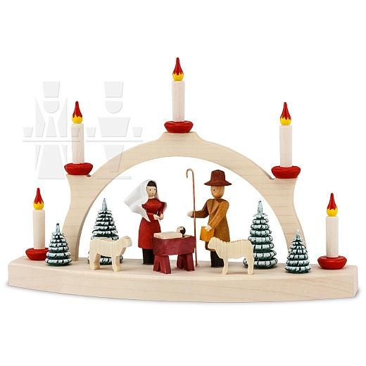 Schwibbogen Weihnachtsmarkt • gebeizt