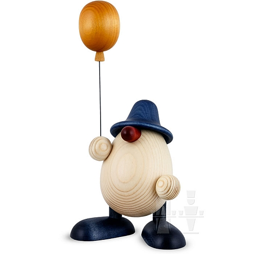 Eierkopf Otto mit Luftballon blau