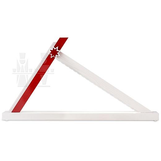 LED Schwibbogen Weiß-Rot