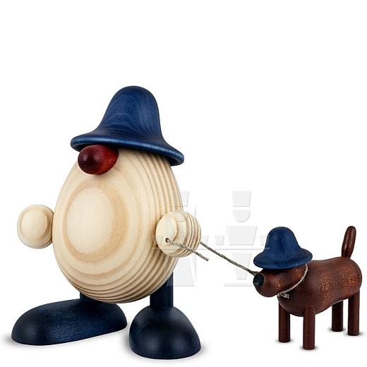 Eierkopf Rudi mit Waldi blau