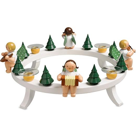 Adventkranz mit Engeln und Tüllen